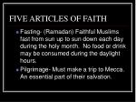 five articles of faith1