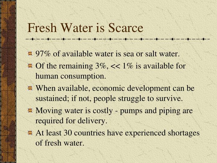 Fresh Water is Scarce