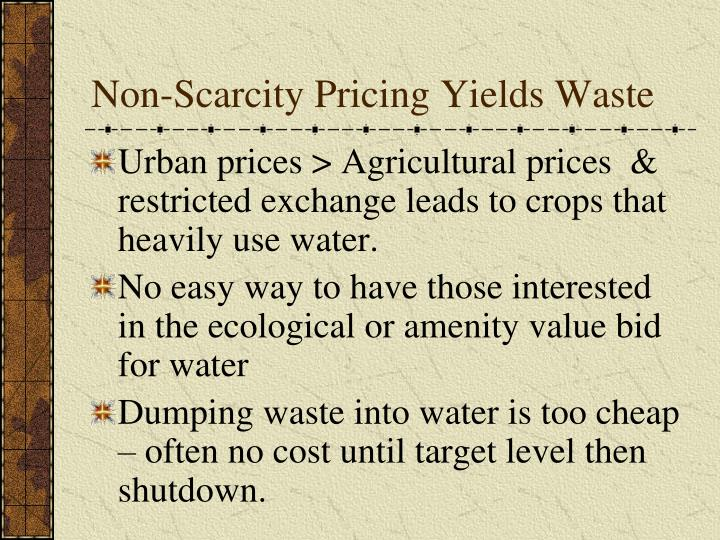Non-Scarcity Pricing Yields Waste