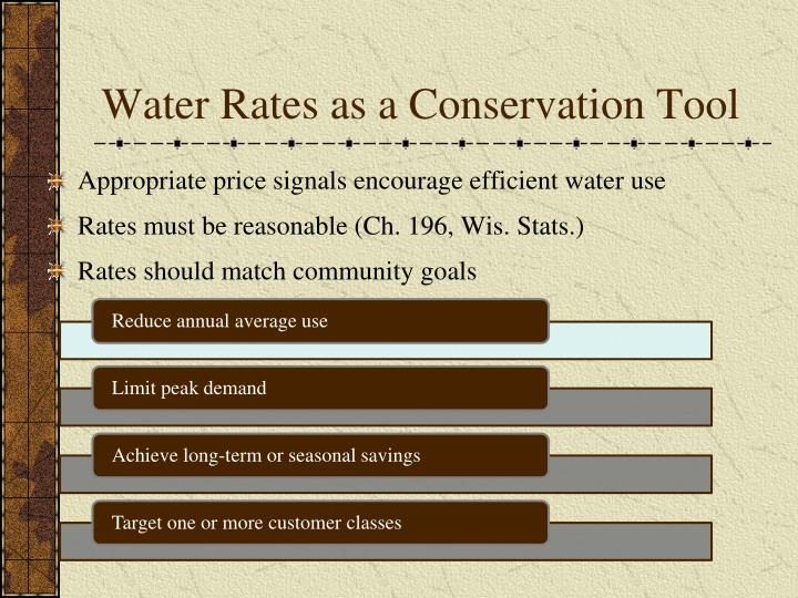 Water Rates as a Conservation Tool