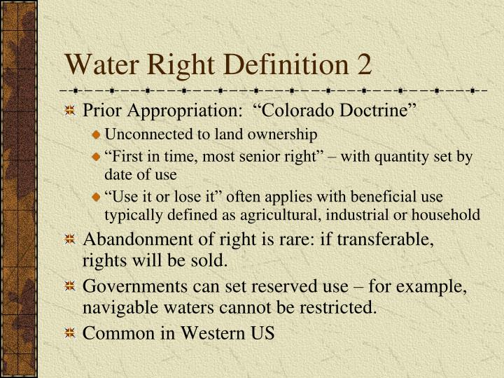 Water Right Definition 2