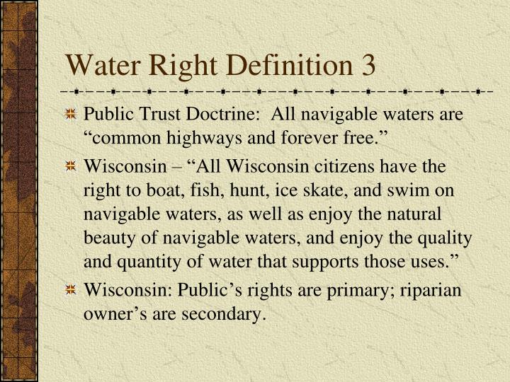Water Right Definition 3