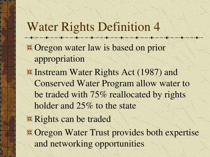 Water Rights Definition 4