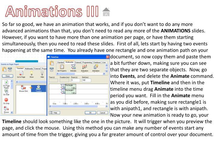 Animations III