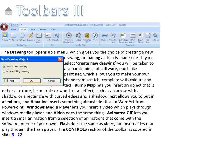Toolbars III