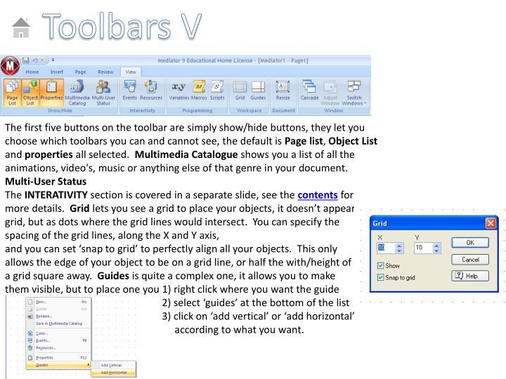 Toolbars V