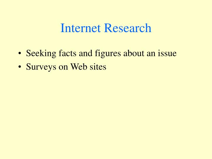Internet Research