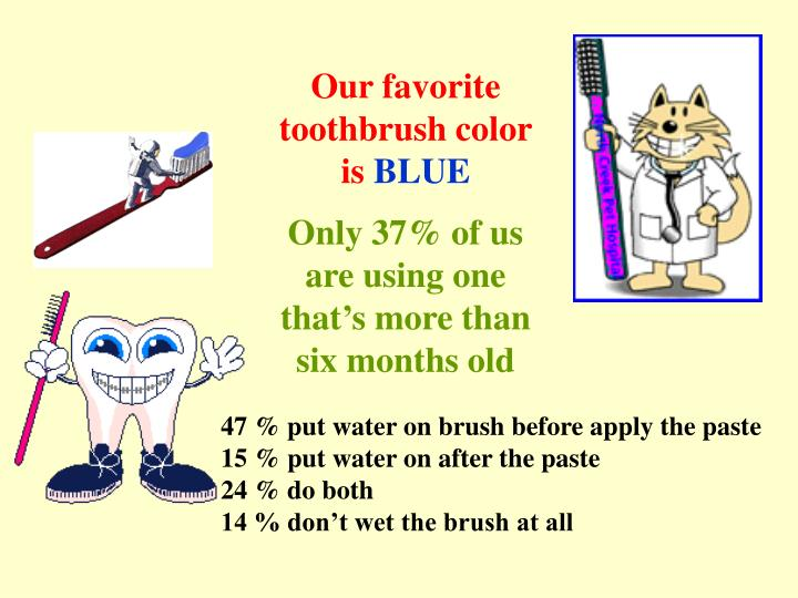 Our favorite toothbrush color is