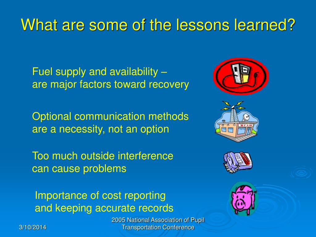 What are some of the lessons learned?