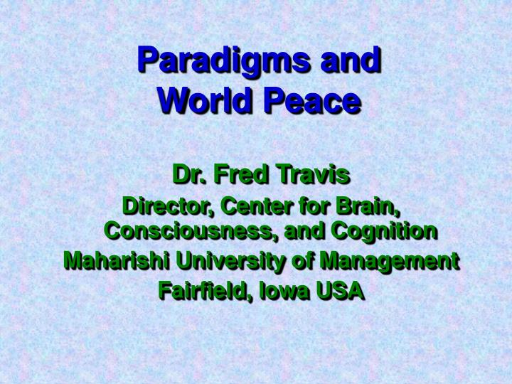 Paradigms and