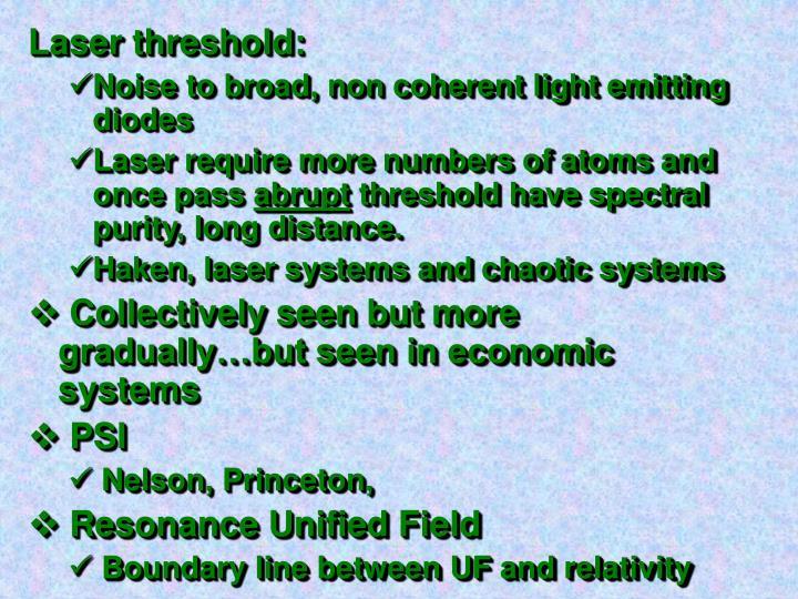 Laser threshold: