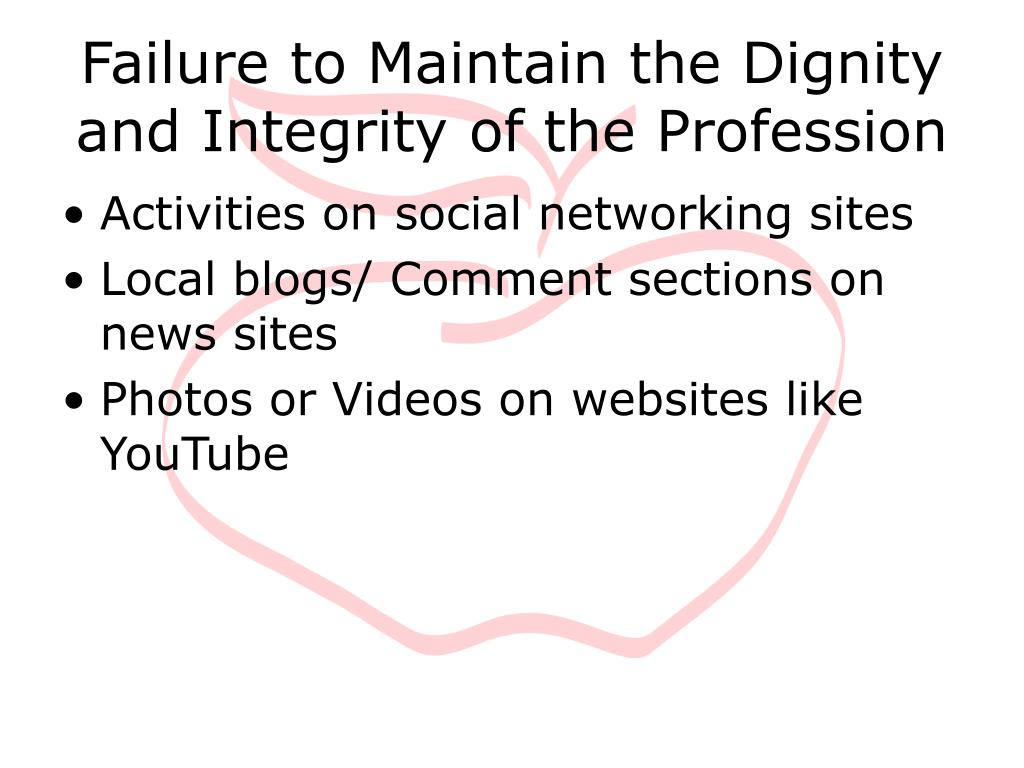 Failure to Maintain the Dignity and Integrity of the Profession