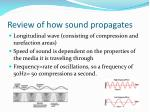 review of how sound propagates