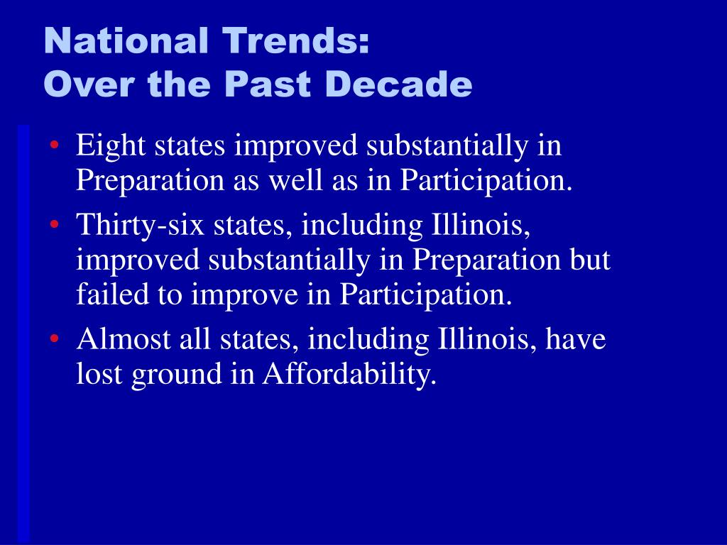 National Trends: