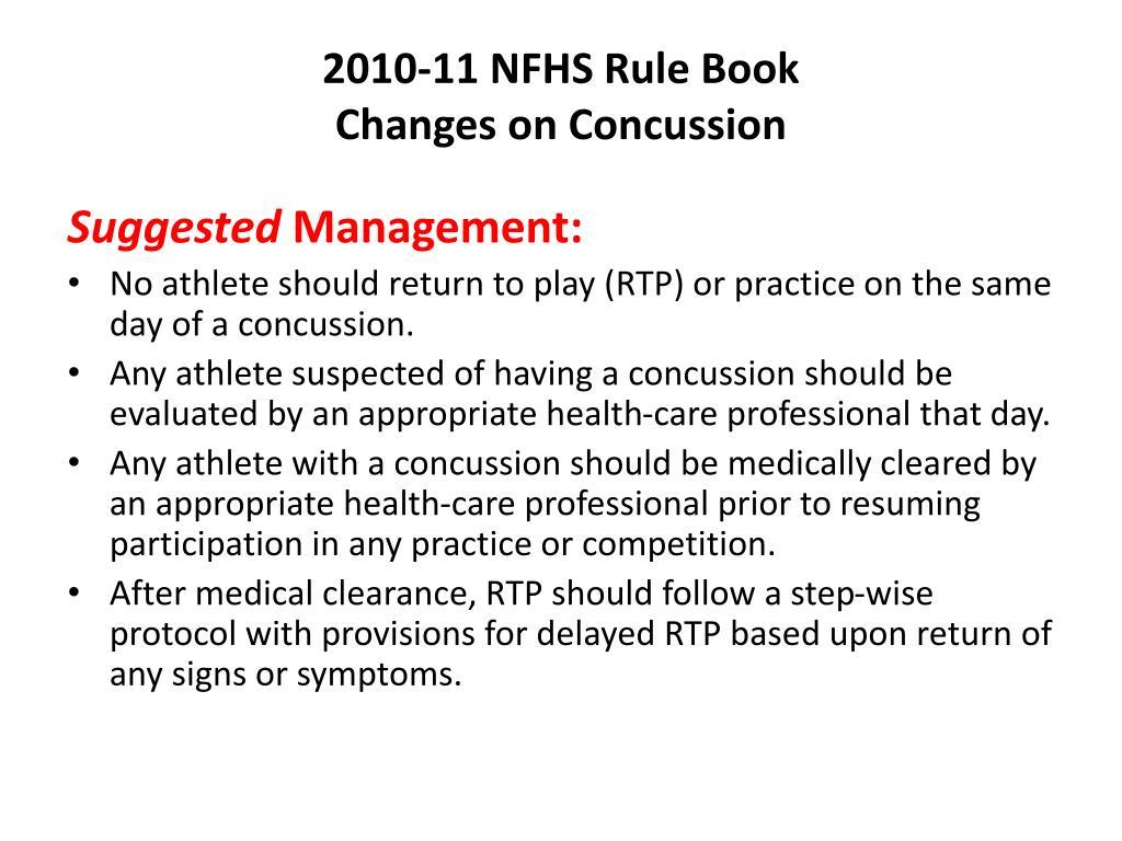 2010-11 NFHS Rule Book