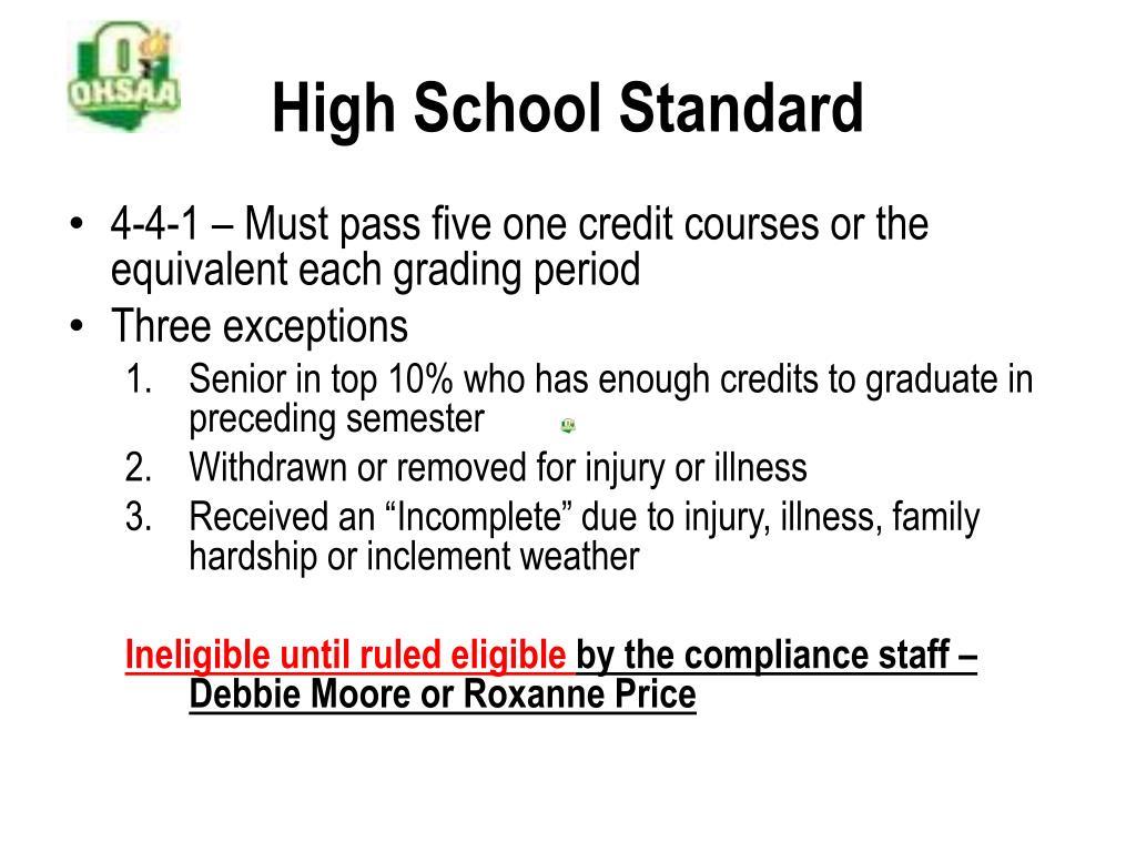 High School Standard