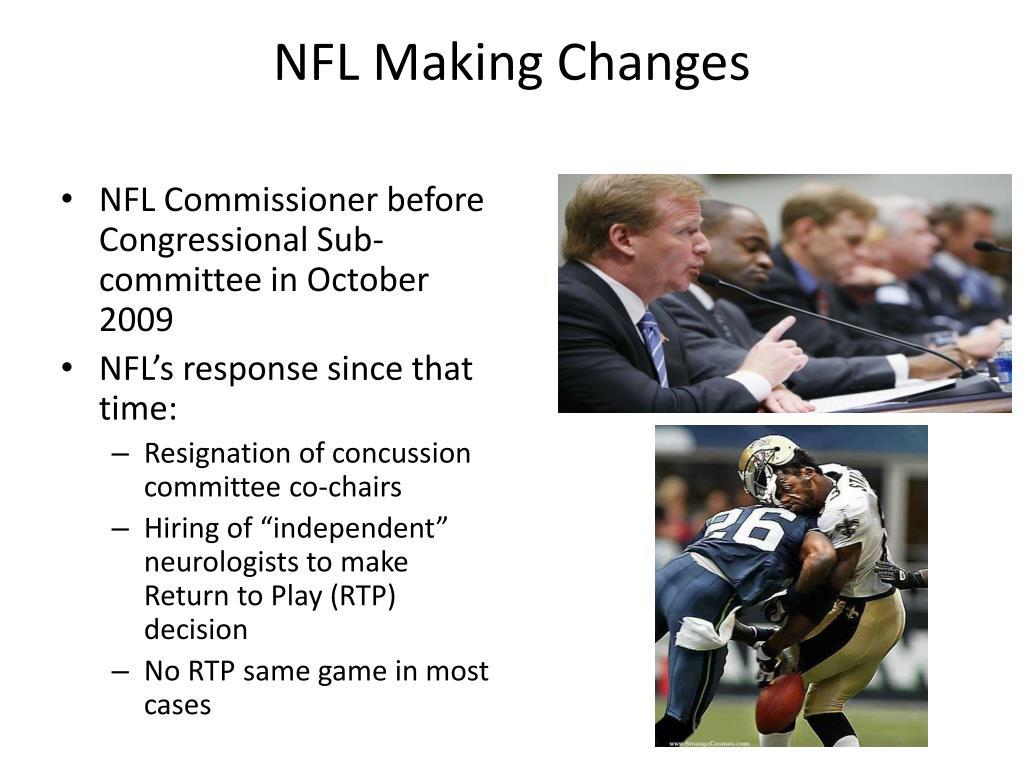 NFL Making Changes