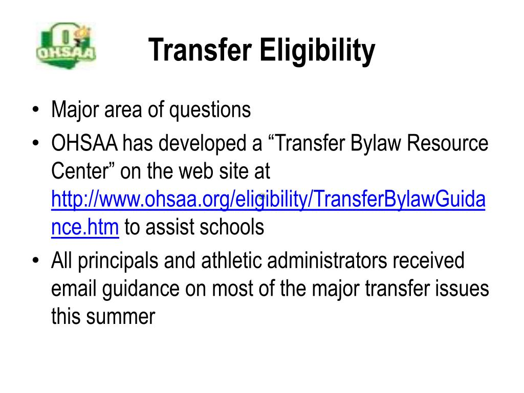 Transfer Eligibility