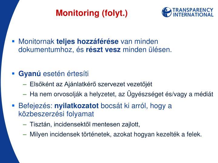 Monitoring (