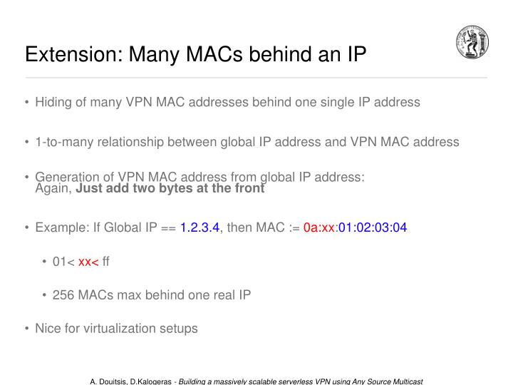 Extension: Many MACs behind an IP