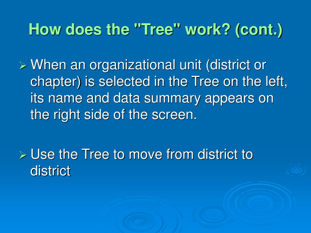 "How does the ""Tree"" work? (cont.)"