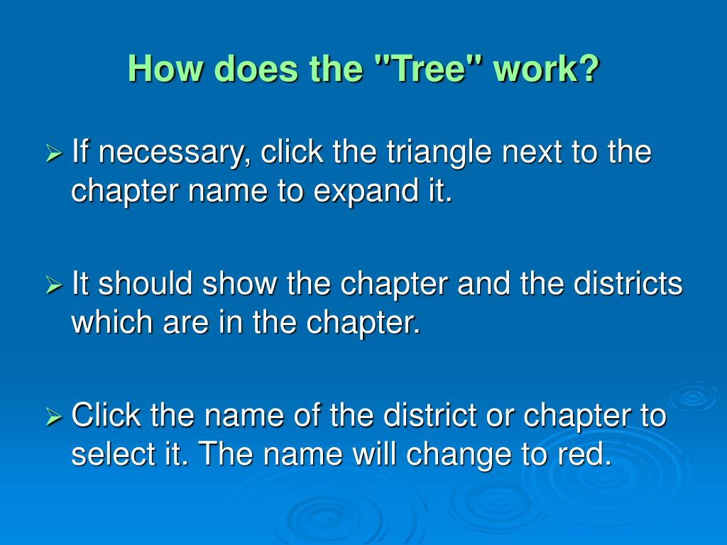 "How does the ""Tree"" work?"