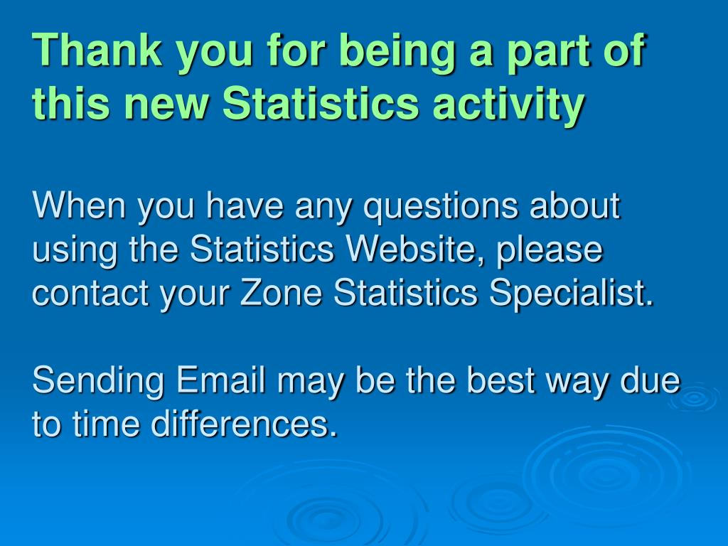 Thank you for being a part of this new Statistics activity