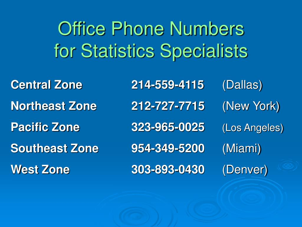 Office Phone Numbers