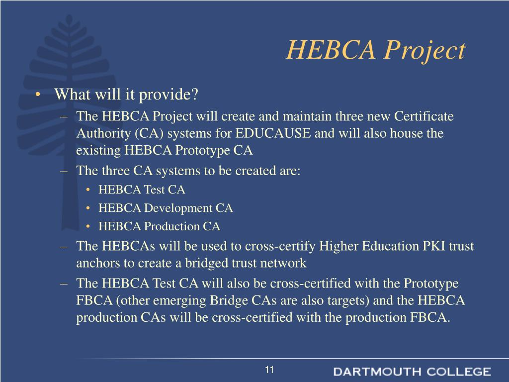 HEBCA Project