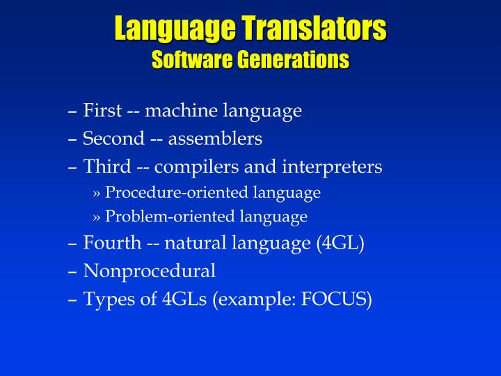 Language Translators