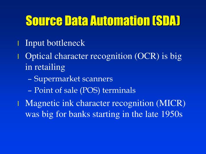 Source Data Automation (SDA)