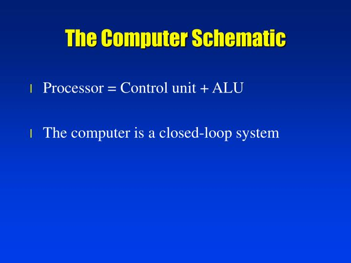 The Computer Schematic