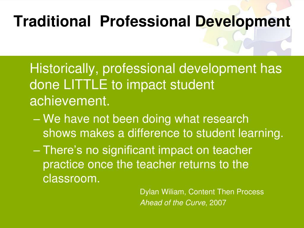 Traditional  Professional Development