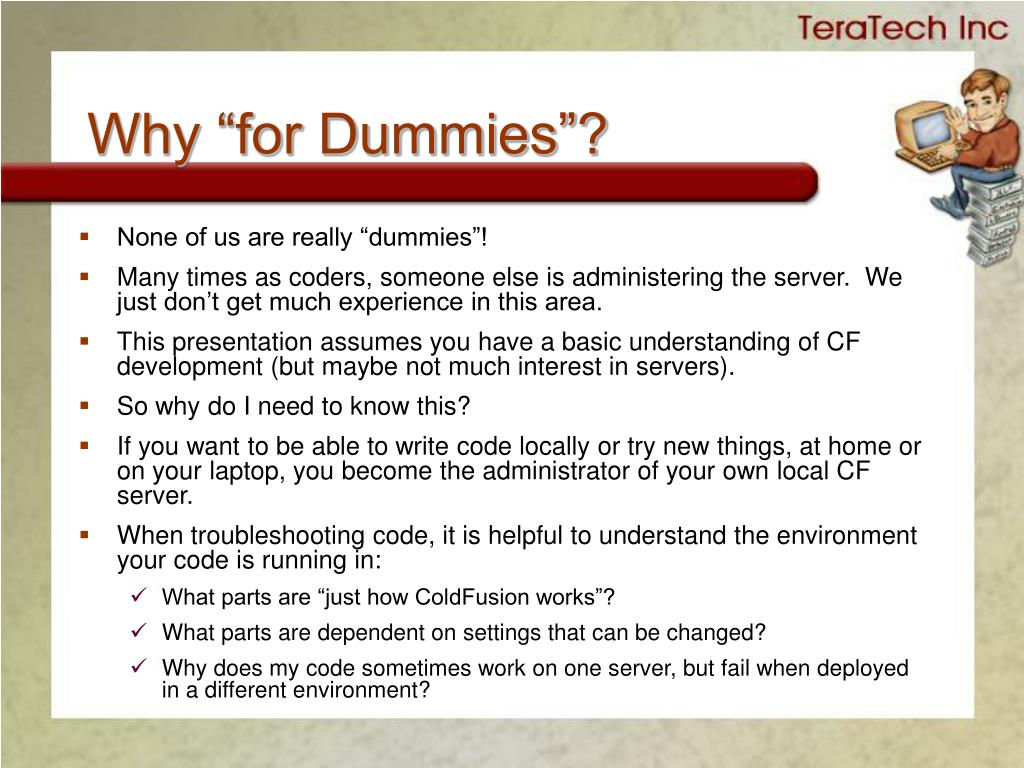 """Why """"for Dummies""""?"""
