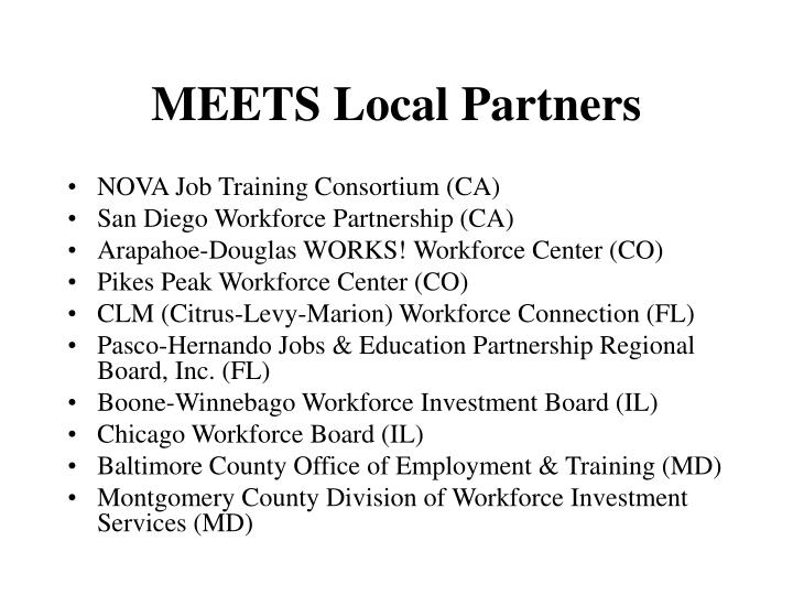 MEETS Local Partners