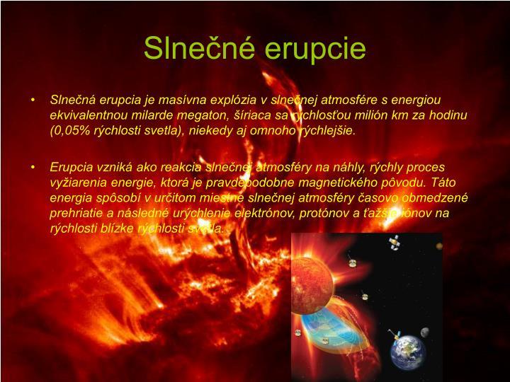Slnečné erupcie