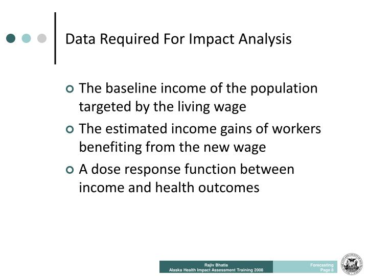 Data Required For Impact Analysis