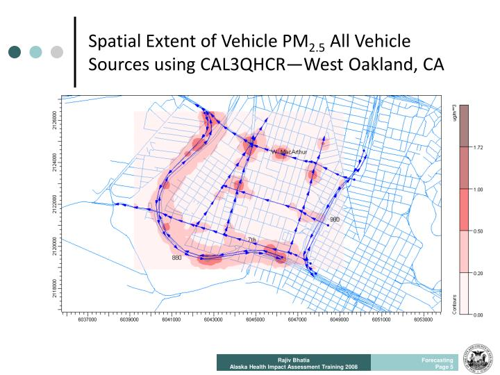 Spatial Extent of Vehicle PM