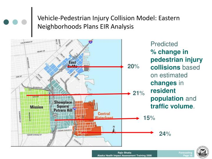 Vehicle-Pedestrian Injury Collision Model: Eastern Neighborhoods Plans EIR Analysis