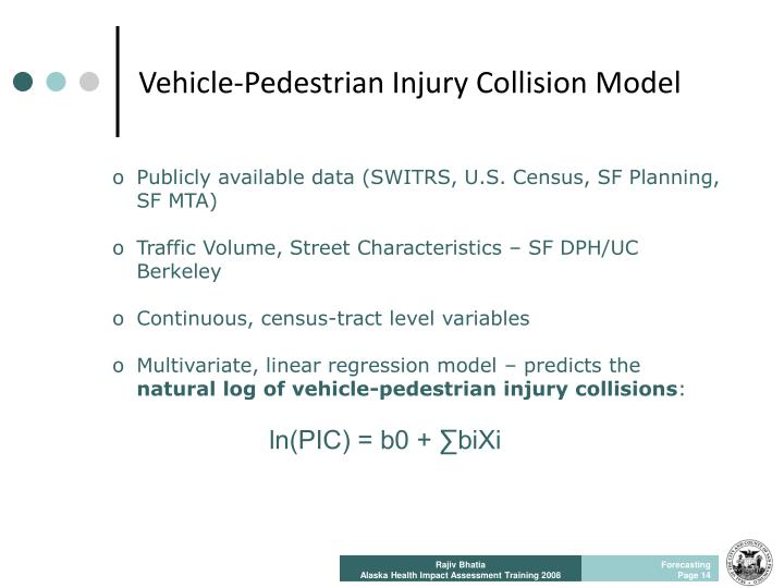 Vehicle-Pedestrian Injury Collision Model