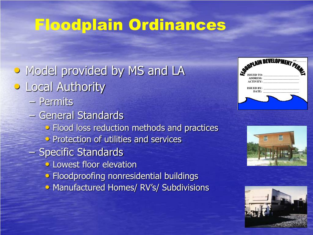 Floodplain Ordinances