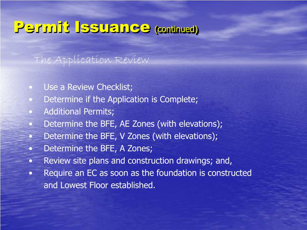 Permit Issuance