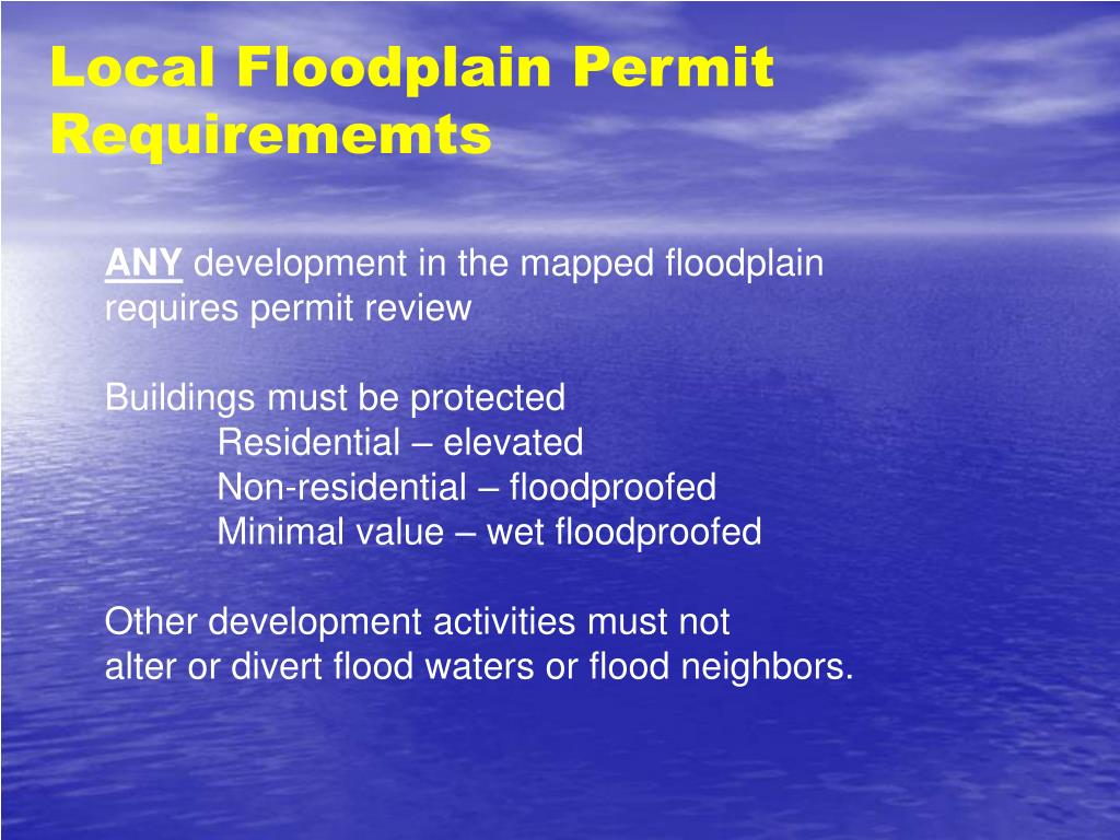 Local Floodplain Permit Requirememts