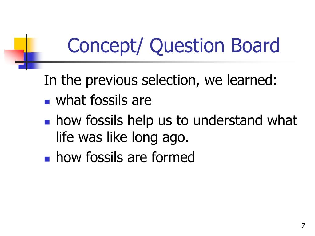 Concept/ Question Board