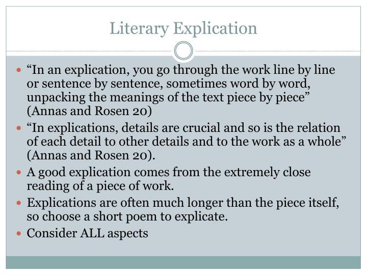 Literary Explication