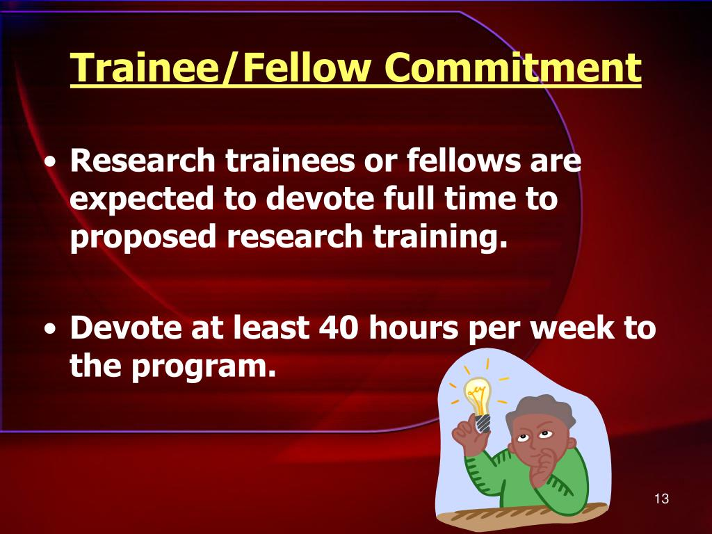 Trainee/Fellow Commitment