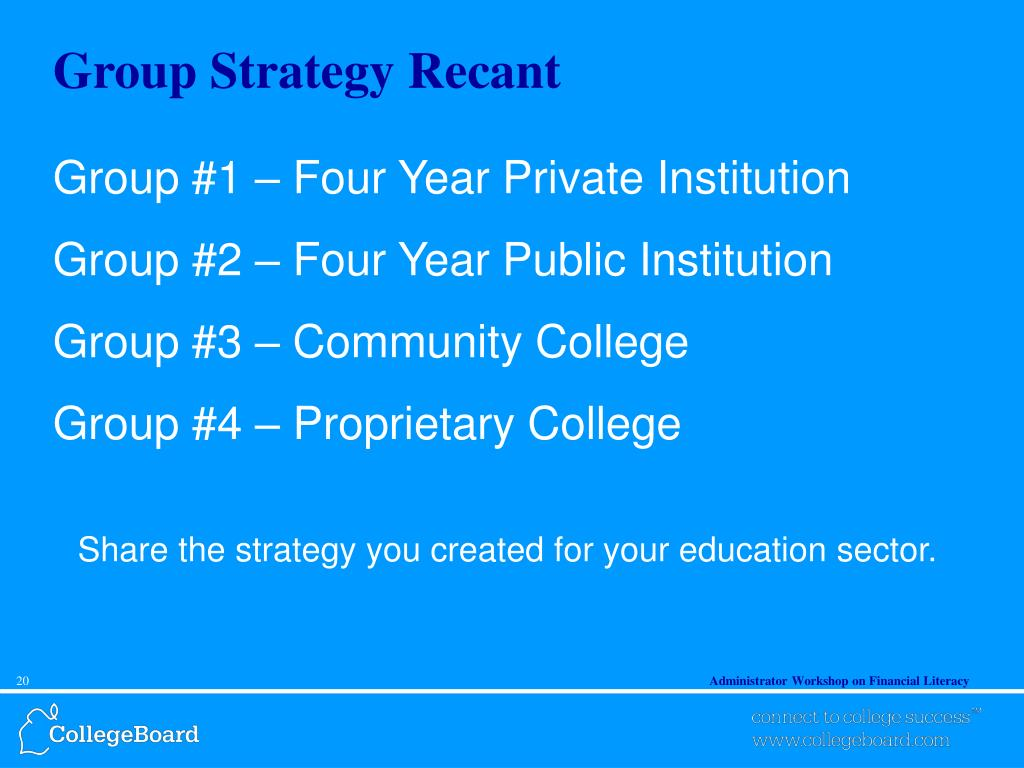 Group Strategy Recant
