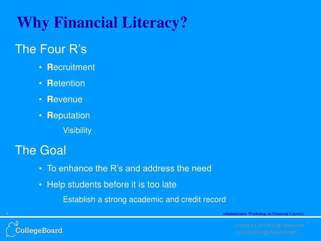 Why Financial Literacy?