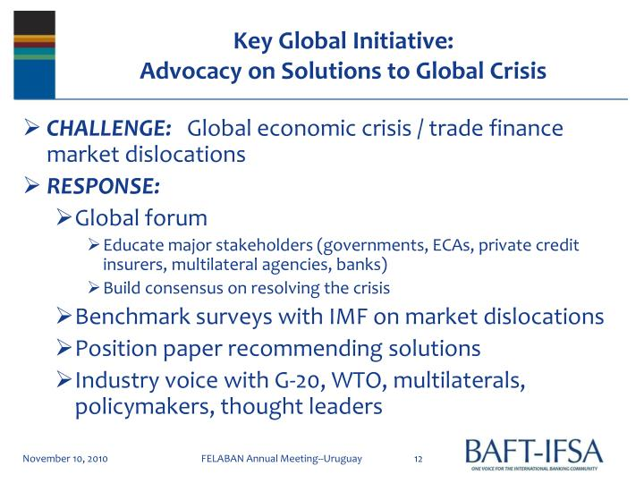 Key Global Initiative:
