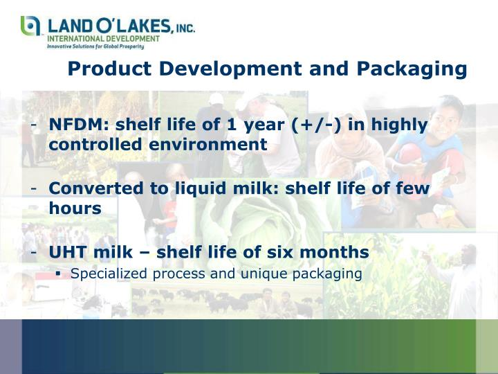 Product Development and Packaging